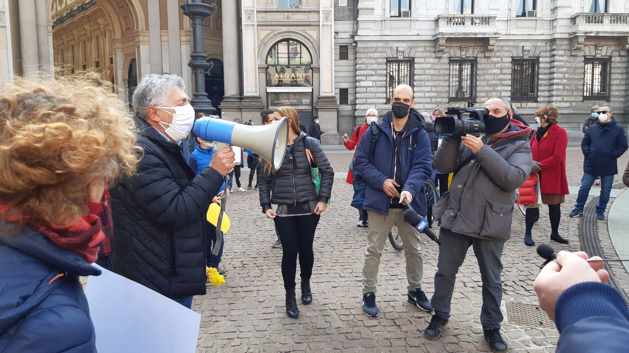 Marco Pau del Comitato A Scuola! 8 Marzo a Palazzo Marino