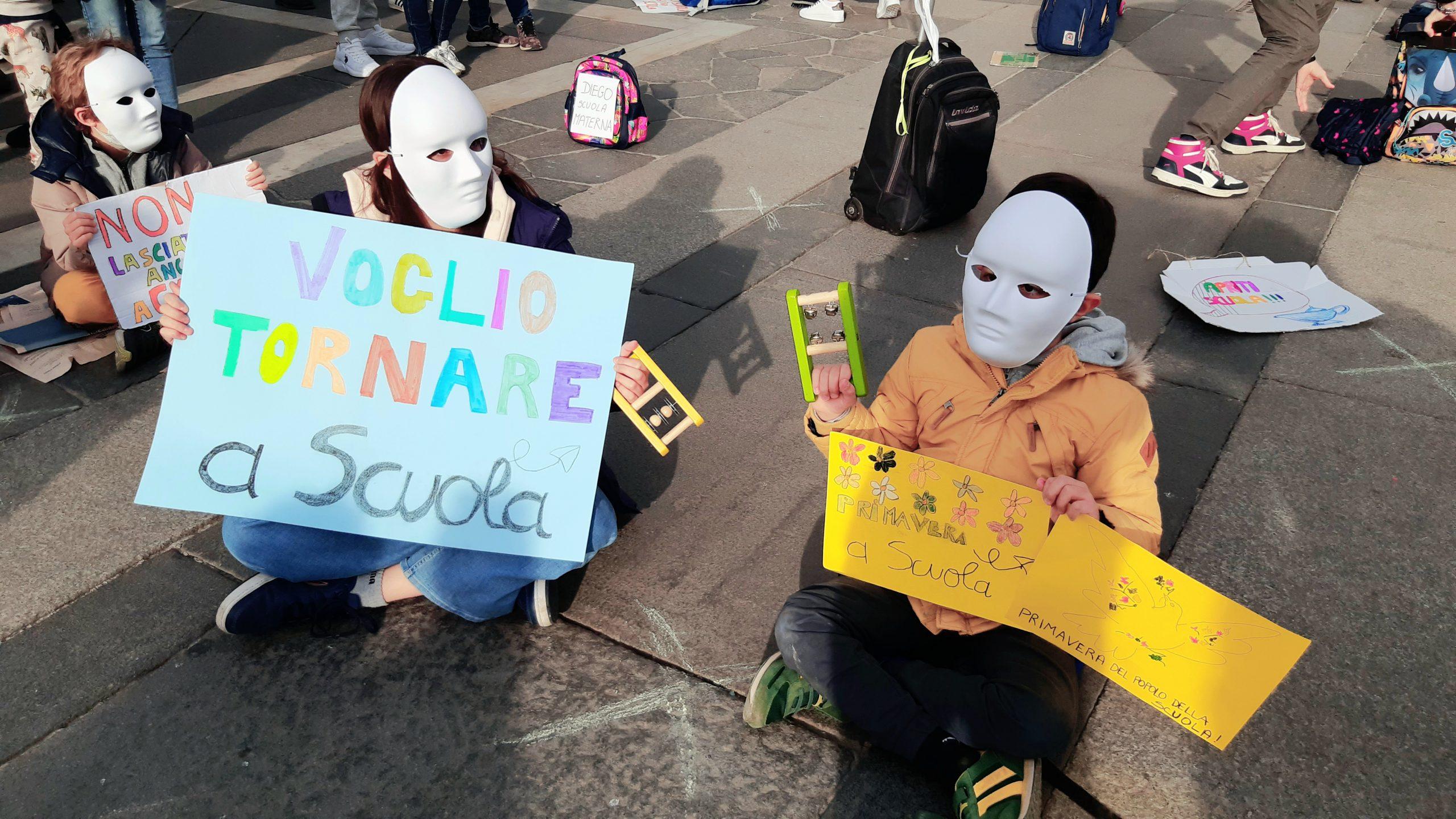 Milano 21 Marzo Voglio Tornare a scuola