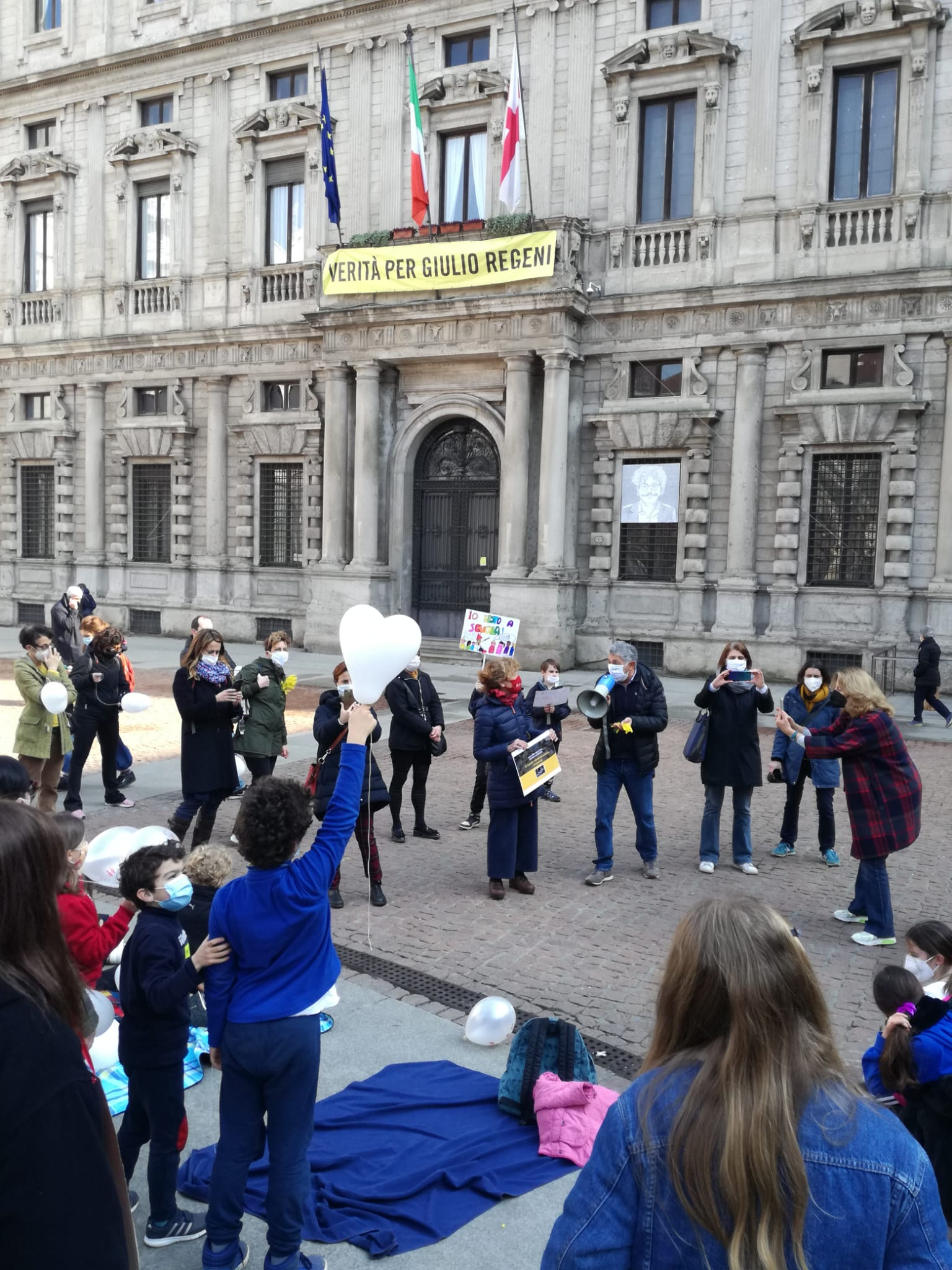 Presidio Palazzo Marino 8 Marzo 2021 Comitato A SCuola!