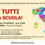 Locandina Manifestazione Roma 10 Aprile, P.zza del Popolo h 15.00